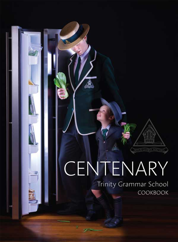 Cover for Trinity Grammar Commemorative Cookbook