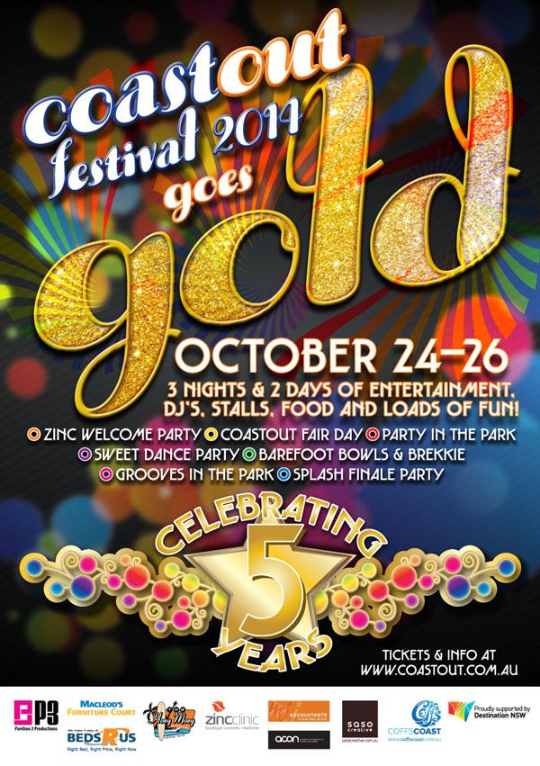 CoastOut: Gold event poster