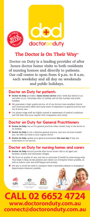 Doctor On Duty pull up banner for trade show