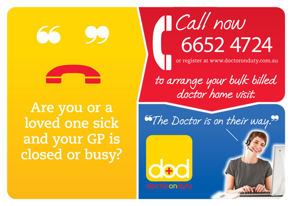 Doctor On Duty A5 Flyer for magazine insert
