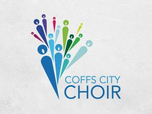 Coffs City Choir: Logo. We're always happy to help a community not-for-profit out in whatever way we can — in this instance, a free logo and banner design.